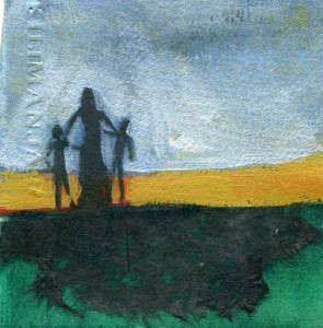 """Watercolor Sketch 4x4"""" on paper by Gwen Meharg"""